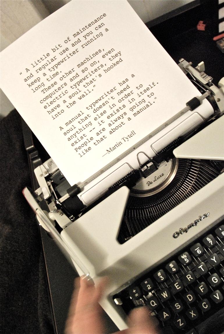 Martin Tytell on Manual Typewriters