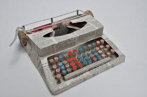 Artist Jennifer Collier's paper typewriter