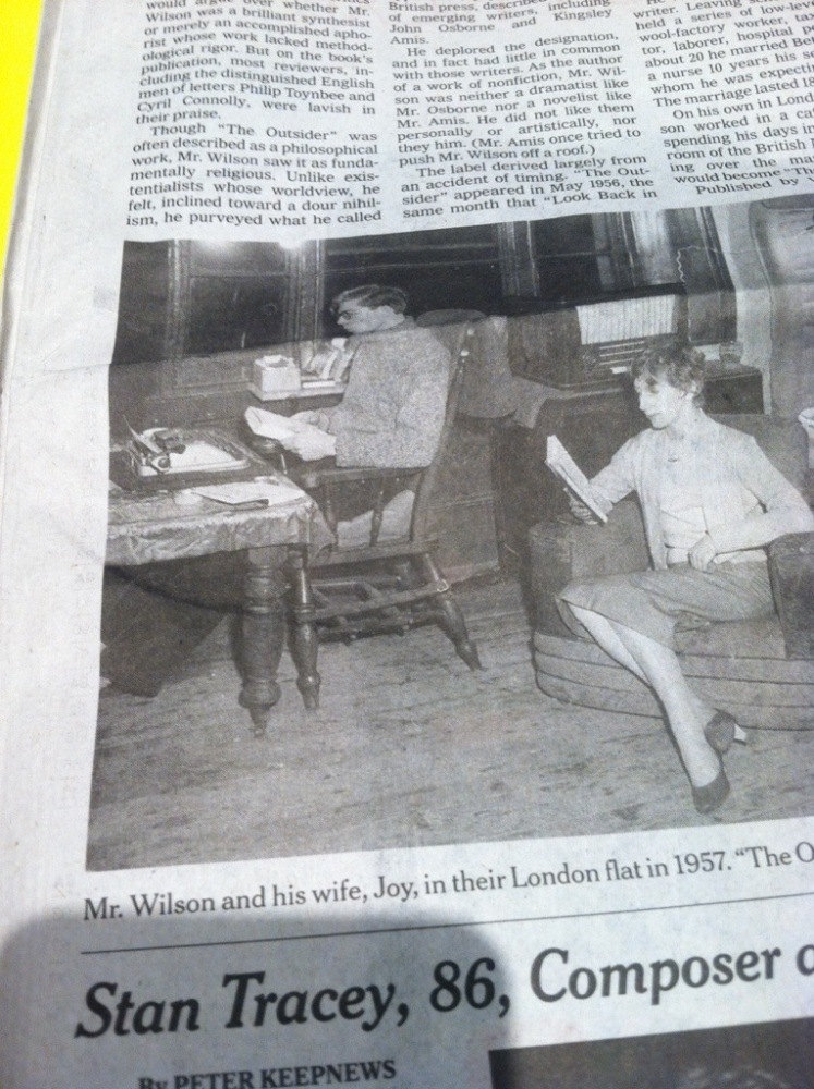 English author, Colin Wilson 1931-2013