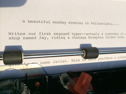 Jay and Javier weigh in for World Typewriter Day