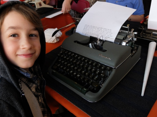 This young man comes from a typewriter-equipped home; he set to  and immediately began a chapter story.