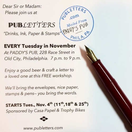 We will be at Paddy's every Tuesday in November, 7-9 p.m. Bring your words!